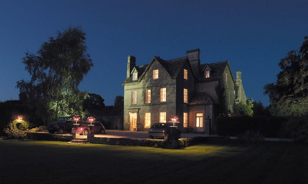 The Rectory Hotel at night