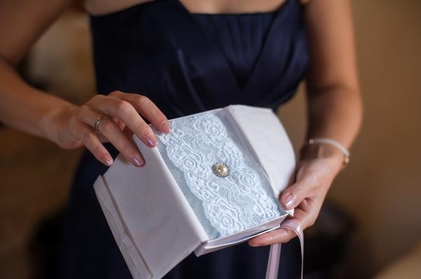 Bride's garter in box