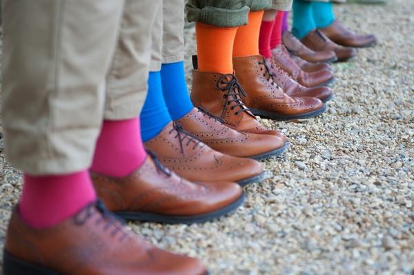 Groomsmen's coloured socks