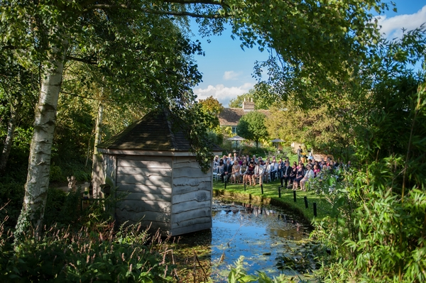 South Farm outdoor wedding ceremony in Summer House