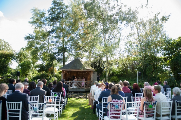 Wedding ceremony in Summer House of South Farm