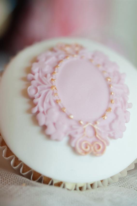 Decoration on cupcake