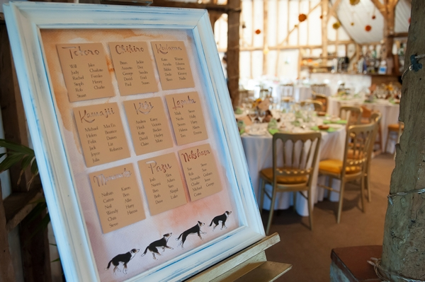 Dog wedding table plan