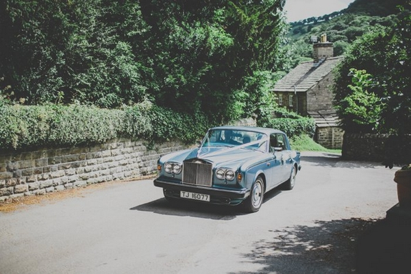 Wedding car arriving