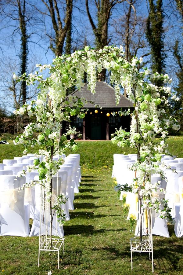 Wedding ceremony seating outside