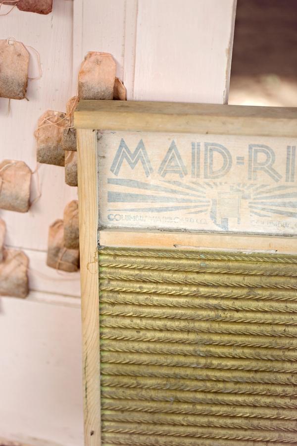 Washboard wedding prop
