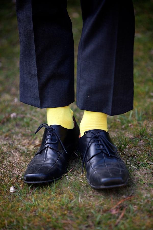 Groom's yellow socks