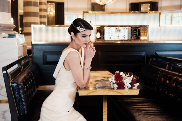 Bride wearing Bohemia Headband by Olivier Laudus