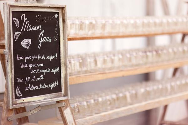 Rows of mason jars
