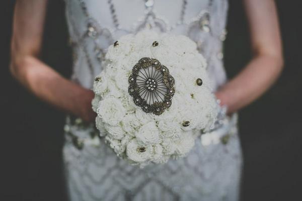 Bride's handmade bouquet