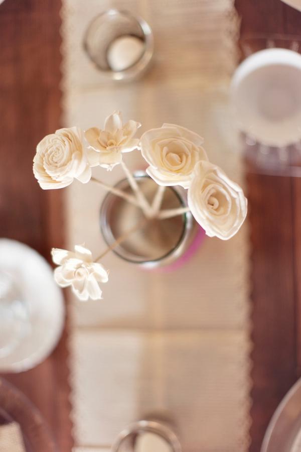 Flowers on wedding table