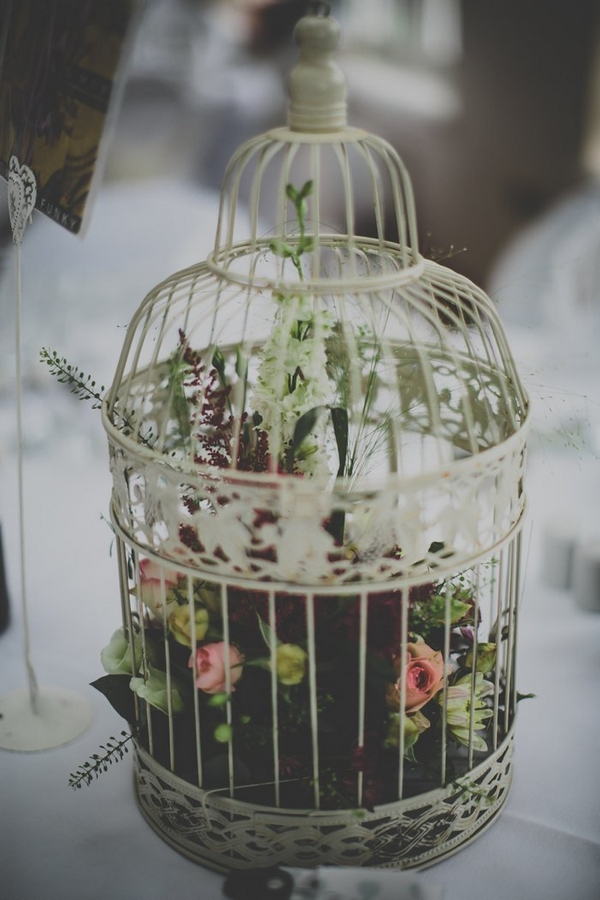 Birdcage on wedding table