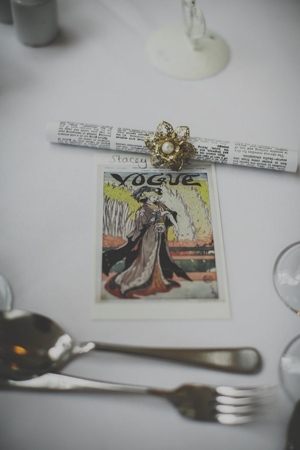 Vogue wedding place setting