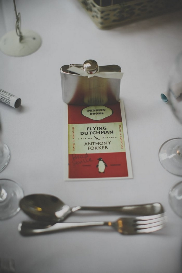 Penguin book wedding place setting