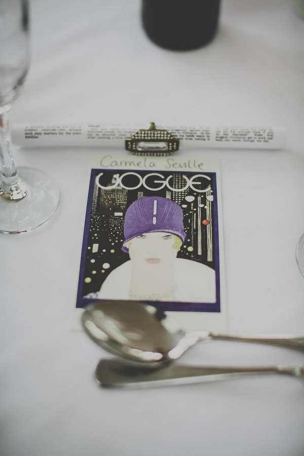Vogue wedding place setting