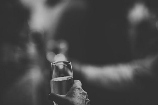 Raising glass