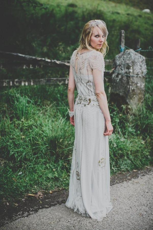 Bride wearing Jenny Packham Eden dress