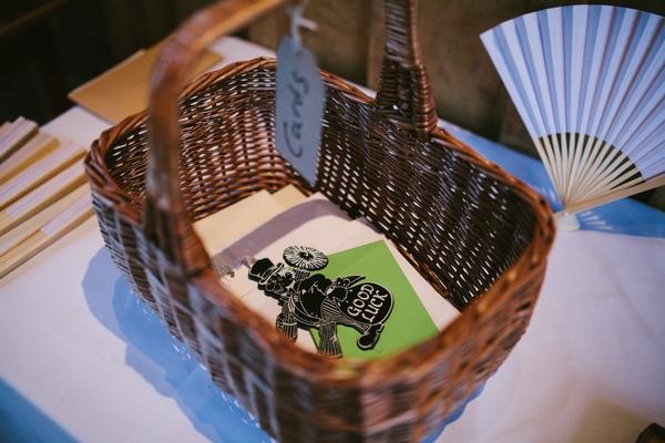 Basket for wedding cards