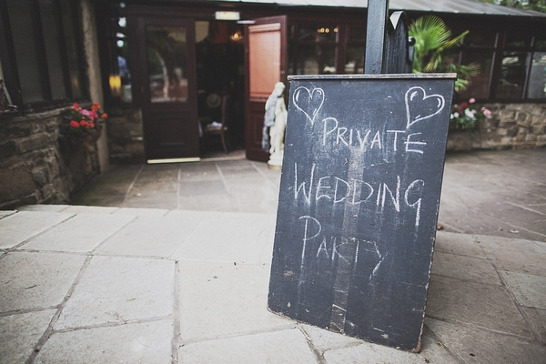 Private wedding party sign
