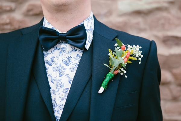 Bow tie and buttonhole