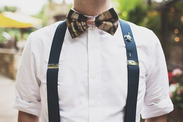 Shirt, braces and bow tie