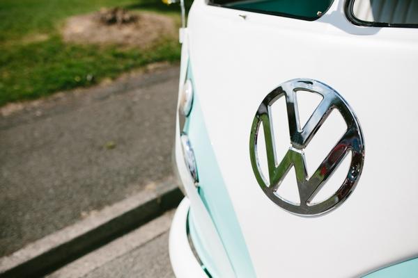 Turquoise VW Camper Van