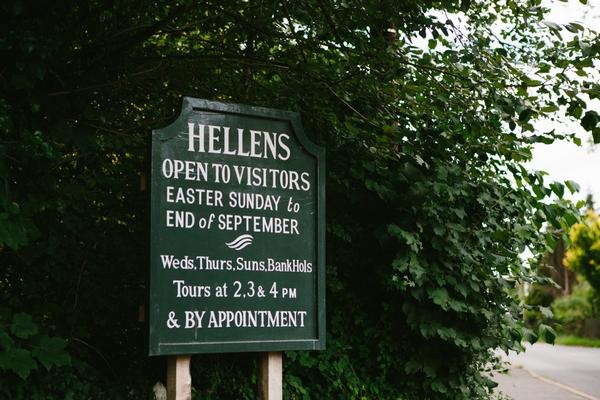 Hellens Manor sign