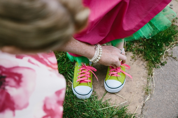 Flower girl's trainers