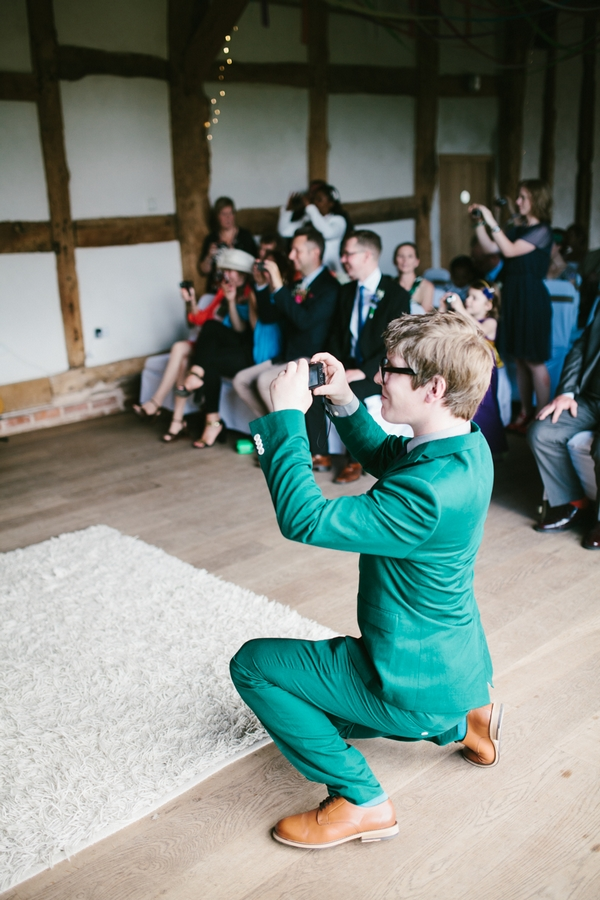 Wedding guest taking picture
