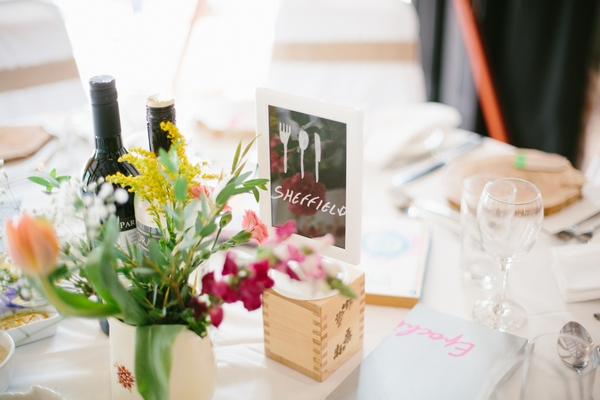 Sheffield themed wedding table