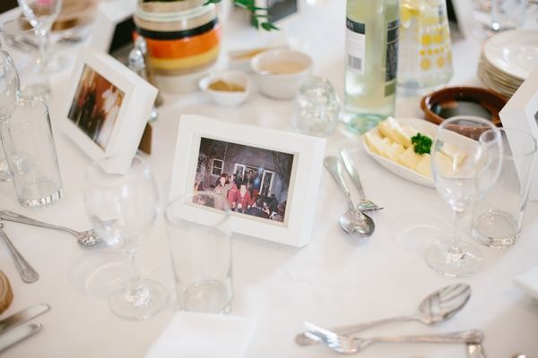 Picture on wedding table