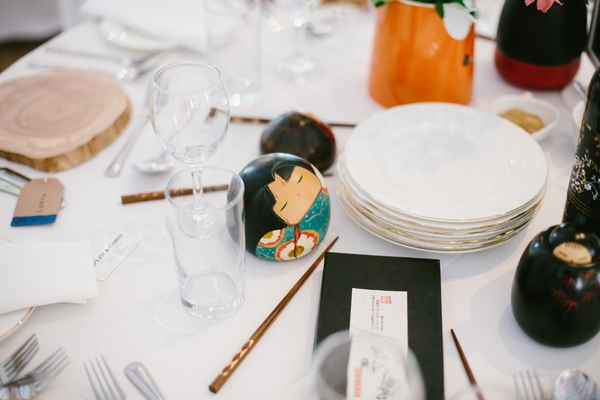 Japan themed wedding table