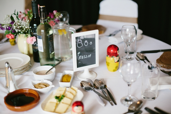 Russia themed wedding table