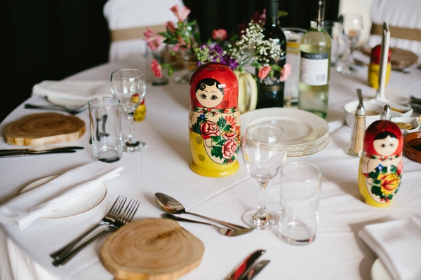 Russian doll on wedding table