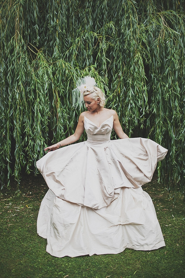 Bride in Vivienne Westwood Sex and the City dress