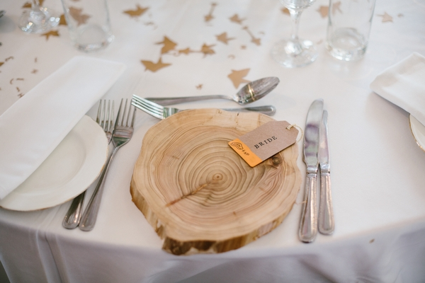 Bride log place setting