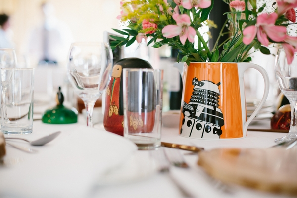 Dalek jug on wedding table