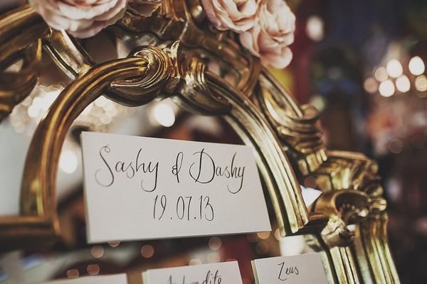 Wedding table plan header