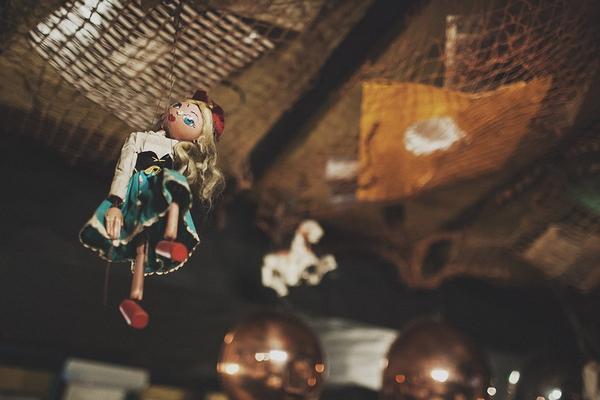 String puppet hanging