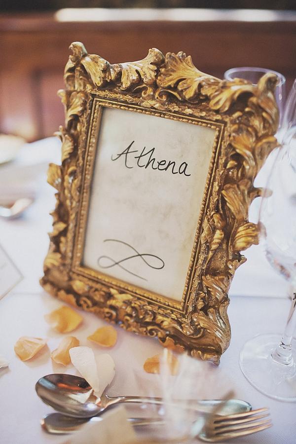 Athena wedding table sign