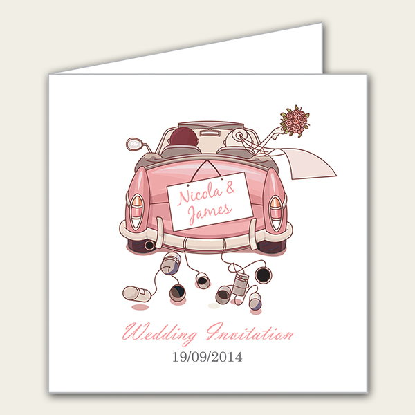 Just Married Wedding Invitation - Dotty About Paper