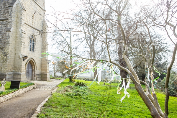 Streamers in tree branches