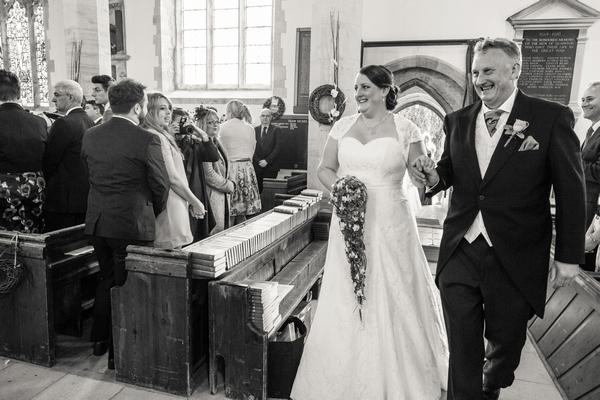 Bride entering wedding ceremony