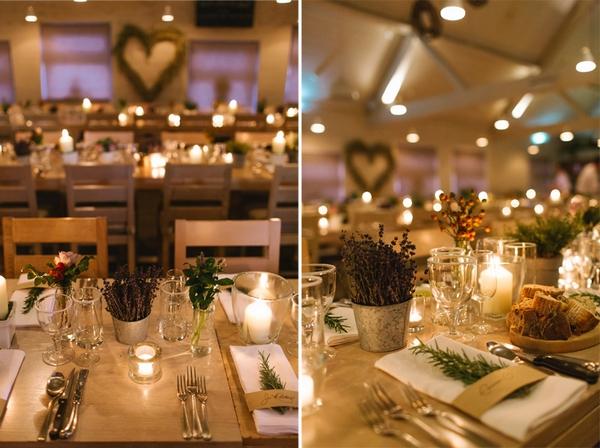 Wedding table settings