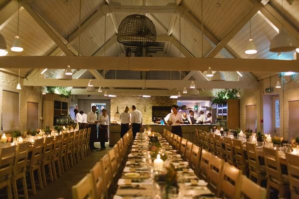 Wedding breakfast at Daylesford Farm