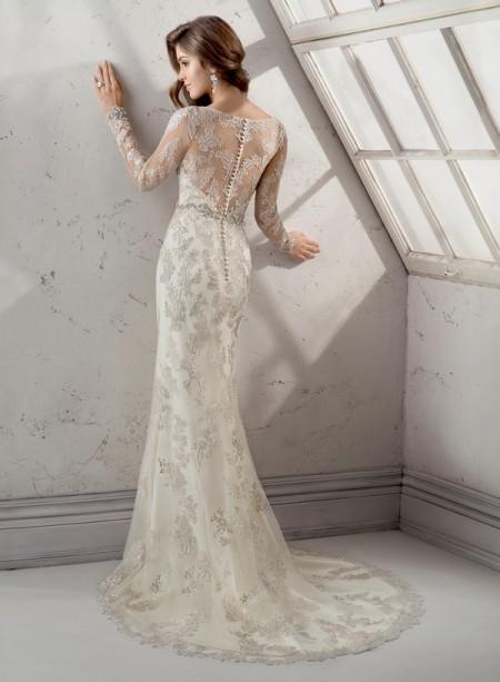 Back of Anastasia Wedding Dress - Sottero and Midgley Fall 2014 Bridal Collection