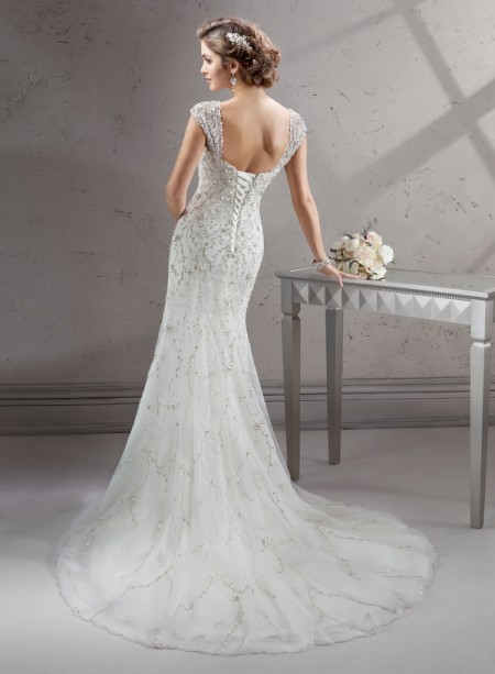 Back of Cayleigh Wedding Dress - Sottero and Midgley Fall 2014 Bridal Collection