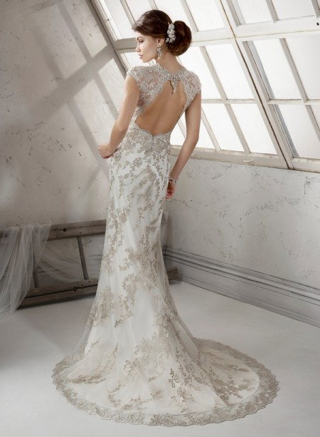 Back of Clementine Wedding Dress - Sottero and Midgley Fall 2014 Bridal Collection