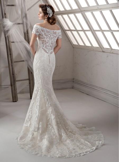 Back of Dakota Wedding Dress - Sottero and Midgley Fall 2014 Bridal Collection
