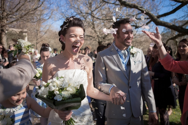 Wedding confetti shot - Picture by Linus Moran Photography